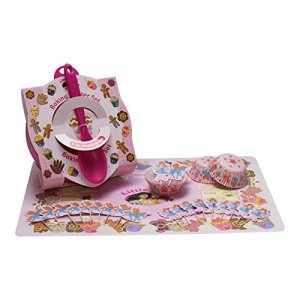 Children's Baking Set with Mixing Bowl, Spoon, Baking Mat and Fairy & Unicorn Cake Cases and Toppers 51cZ7RfQMQL