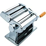 Pasta Maker Machine Hand Crank - Roller Cutter Noodle Makers Best for Homemade Noodles Spaghetti Fresh Dough Making Tools Rolling Press Kit - Stainless Steel Kitchen Accessories Manual Machines