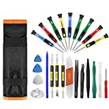 25pcs Electronics Repair Tool Kit, GangZhiBao Precision Screwdriver Set Magnetic for Fix Apple iPhone,Cell Phone,Smart Watch,Computer,PC,Tablet,iPad,Camera,Xbox,PS4 Pry Open Replace  Screen Battery
