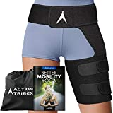 ATX Compression Wrap - Hip and Groin Support - Sciatica Nerve Pain Relief - Brace for Pulled Muscles - Hamstring Thigh Quadriceps Arthritis Joints - SI Belt Men and Women