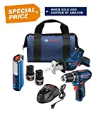 Bosch Power Tools Drill Kit - PS31-2A - 12V, 3/8', Two Speed Driver, Cordless Drill Set - Includes Two Lithium Ion Batteries, 12V Charger, Screwdriver Bits & Soft Carrying Bag