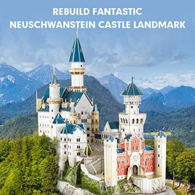 CubicFun-3D-Neuschwanstein-Castle-Puzzles-for-Adults-and-Teens-Germany-Architecture-Building-Model-Kits-Toys-Stress-Relief-Gifts-for-Women-and-Men-121-Pieces