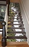 "3D Maligne River 11 Stair Risers Decoration Photo Mural Vinyl Decal Wallpaper Murals Wallpaper Mural US (13x H:18cm x W:94cm (7""x37""))"