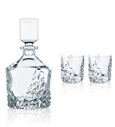 Nachtmann Sculpture Decanter Set, of 3