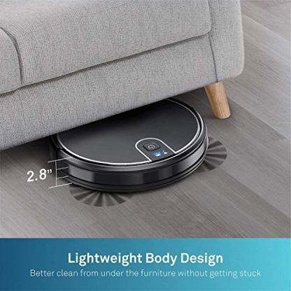 MOOSOO-Robot-Vacuum-Wi-Fi-Connectivity-Easily-Connects-with-Alexa-or-Google-Assistant-Voice-Control-Super-Thin-Robotic-Vacuum-Cleaner-120Mins-Max-Run-Time-Automatic-Self-Charging-Vacuum-MT-710