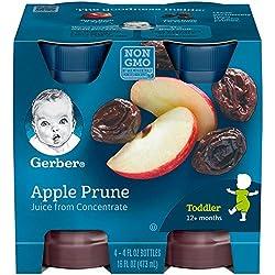 Gerber Juice, Apple Prune 4 Ounce, 4 count