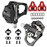 Venzo Sealed Fitness Exercise Spin Bike CNC Pedals Compatible with Look ARC Delta & Shimano SPD 9/16' for Peloton
