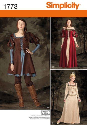 Simplicity Pattern 60 H60 Misses' Costume Medieval Dress In Two Gorgeous Medieval Dress Pattern