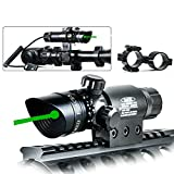 TZWNS Scope Zoomable Green Sight With 20mm 2 Mounts Base Switch Power 532nm Beam Battery Charger Included Dot Sight