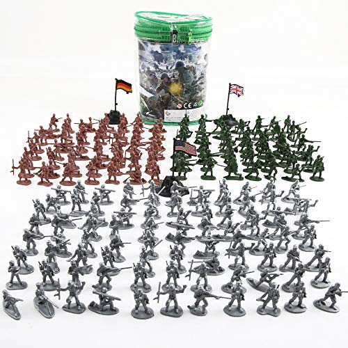 Beebeerun Plastic Army Men Toys for Boys 300 PCS, Little Toys Soldiers Army Guys Action Figures