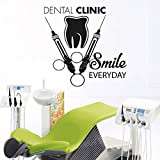 Tooth Healthcare Dental Clinic Wall Decal Smile Everyday Quote Vinyl Wall Stickers Stomatology Decals Teeth Wall Decor g2 57x56cm