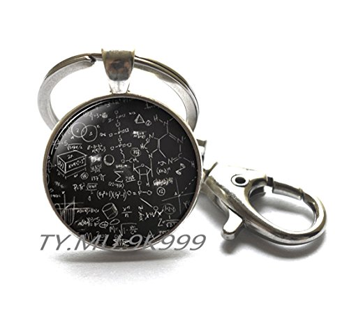 Mathematical Key Ring, Math formulas, Quantum physics, Science Jewelry, physics jewelry, Math Equation, Jewelry for men, Keychain for men.Y211 (1)