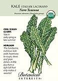 Italian Nero Toscana Kale Seeds - .50 grams - Organic - Botanical Interests by Hirts: Seed; Vegetable