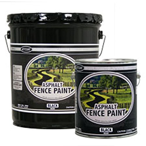 Premium Grade Asphalt Fence Paint - Black (Gallon)