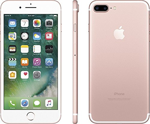 Apple iPhone 7 Plus 128GB Factory Unlocked CDMA/GSM Smartphone - Rose Gold (Certified Refurbished)