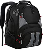 YOREPEK 17 Inch Laptop Backpack,Large Travel Backpacks for International Travel,TSA Friendly Computer Backpack with USB Port for Men Women,Water Resistant College School Bag with Luggage Sleeve,Black