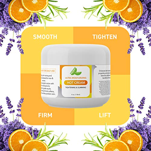 Hot Cream Cellulite Treatment Belly Fat Burner for Women and Men Natural Anti Aging Cream with Antioxidants and Essential Oils Rosemary Lavender Aloe Deep Tissue Massage & Muscle Relaxer 7