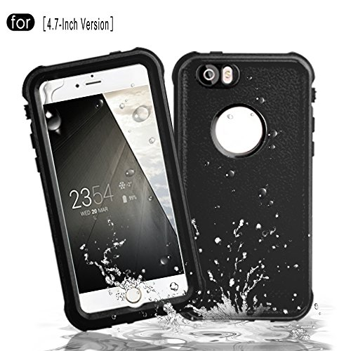 RedPepper iPhone 6/6s Waterproof Case[4.7-Inch Version], Full Sealed Underwater Protective Cover, Shockproof, Snowproof, Dirtproof for Outdoor Sports - Diving, Swimming, Skiing, Climbing (Black)