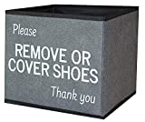 Shoe Cover Box | Disposable Shoe Bootie Holder for Realtor Listings and Open Houses | Please Remove or Cover Shoes Bin