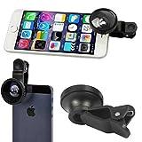 Selfie Camera Lens Kit Fisheye Wide Angle Macro Black for Razer Phone