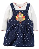 Carter's Baby Girls' 2 Piece Top and Jumper Set 24 Months Blue/White