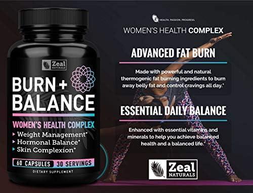 Weight Loss Pills for Women + Daily Balance Vitamins (Iron, Vitamin D, Setria®, Folate,+) Premium Diet Pills for Women + Womens Multivitamin with Iron, D & B Vitamins & Hormone Balance for Women 6