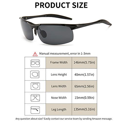 3efa13df1ddf SUNGAIT Men s Polarized Sunglasses for Driving Fishing Golf Metal ...