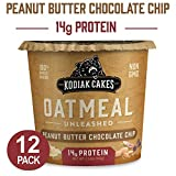 Kodiak Cakes Instant Protein Peanut Butter Chocolate Chip Oatmeal in a Cup, 2.12 Ounce (Pack of 12)