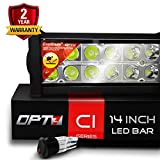 OPT7 C1 14' Off-Road LED Light Bar w/Wire Harness and Switch - 72w Spot Auxiliary Lamp
