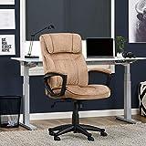 Serta Style Hannah I Office Chair, Microfiber, Light Beige