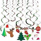 Ccfoud Christmas Hanging Swirl Decoration (...