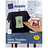 Avery Printable Heat Transfer Paper, for use on Dark Fabrics, 8.5 x 11, Inkjet Printers, 5  transfers (3279)