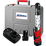 ACDelco Cordless 12V Heavy Duty 3/8 Ratchet Wrench Tool Set with 2 Li-ion Batteries and Charger Kit, ARW1201
