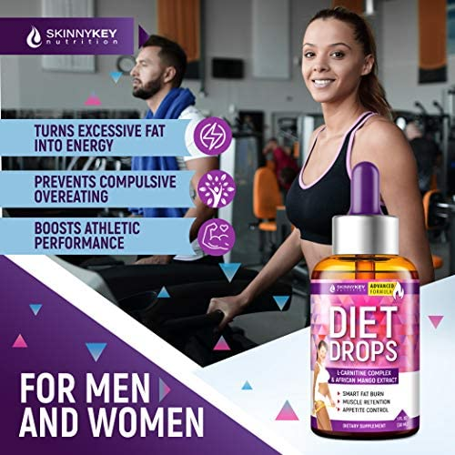 Weight Loss Drops for Women & Men - Metabolism Booster Diet Drops - Made in USA - Appetite Suppressant & Fat Burner with L-Carnitine & African Mango - Metabolism Drops for Fat Loss 7