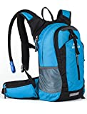 RUPUMPACK Insulated Hydration Backpack Pack with 2.5L BPA Free Bladder - Keeps Liquid Cool up to 4 Hours, Lightweight Daypack Water Backpack for Hiking Running Cycling Camping, 18L