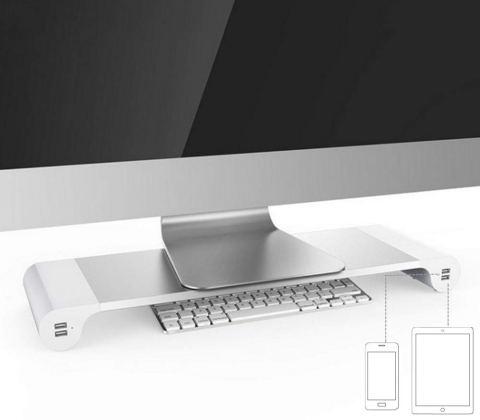 PGVAVA モニター台 Sjkj-PC スマホとタブレットの接続イメージ