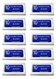 Crystal'SUPER +' Stainless Steel Platinum Coated Double Edge Safety Razor Blades A.K.A Israeli Personnas, 100 blades (10x10)
