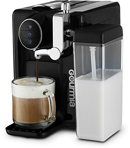 Gourmia 1 Touch Automatic Espresso Cappuccino & Latte Maker - Italian Designed & Engineered Components - Coffee Machine - Froth Milk In Cup with Push of a Button - Nespresso Compatible - GCM6500