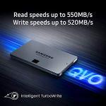 Samsung 860 QVO SSD 4TB – 2.5 Inch SATA 3 Internal Solid State Drive with V-NAND Technology (MZ-76Q4T0B/AM), Gray