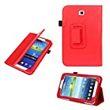Iusun Folio Leather Case Cover Stand For Samsung Galaxy Tab 3 7.0