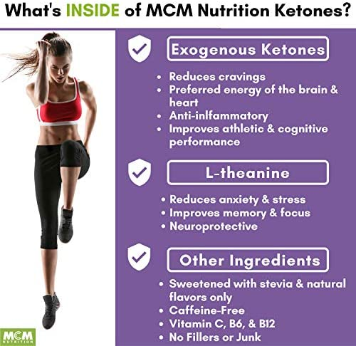 MCM Nutrition - Exogenous Ketones Supplement & BHB - Caffeine Free and Suppresses Appetite - Instant Keto Mix That Puts You into Ketosis Quick & Helps with The Keto Flu (Fruit Punch - 15 Servings) 6