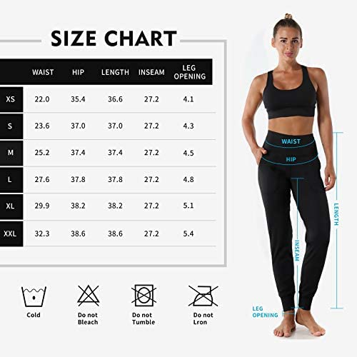 Mesily Women's Athletic Joggers High Waist Sweatpant Yoga Pant with Pockets for Workout Running 6