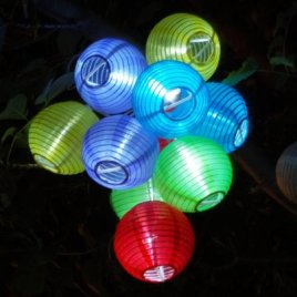 Solar Party Decorations Fairy Lights with 10 Color Lanterns