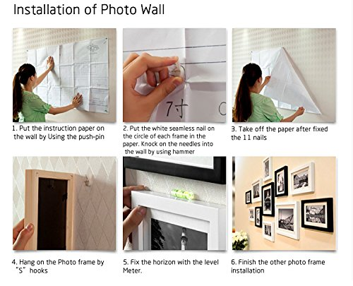 WOOD MEETS COLOR Wall Picture Frames Set of 11, With Hanging ...