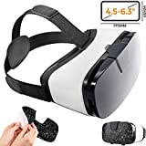 digib Virtual Reality Goggles for iPhone & Android Phones | 3D Virtual Glasses | AR/VR Headset Perfect Work with Max Size Smartphones | Eye-Safe Adjustable HD Quality Lenses