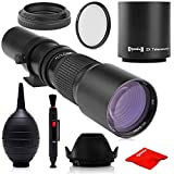 Super 500mm/1000mm f/8 Manual Telephoto Lens for Sony a9, a7r, a7s, a7, a6500, a6300, a6000, a5100, a5000, a3000, NEX-7, NEX-6, NEX-5T, NEX-5N, NEX-5R, 3N and Other E-Mount Digital Mirrorless Cameras