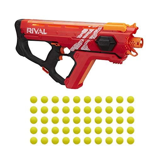 NERF Perses Mxix-5000 Rival Motorized Blaster (Red) -- Fastest Blasting Rival System