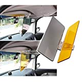 RED SHIELD Universal Car Sun Visor Extender. Transparent, Tinted Shields for Day & Night. Reduce Glare from Sunlight & Oncoming Headlights Through Windshield. Drive Safer with Enhanced Visibility.