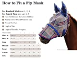 Product review for Kensington KPP Fly Mask with Fleece Trim with Ears, Blue Ice Plaid, Large