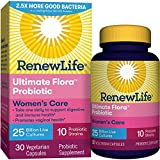 Renew Life #1 Women's Probiotic - Ultimate Flora Probiotic Women's Care, Shelf Stable Probiotic Supplement - 25 Billion - 30 Vegetable Capsules (Packaging May Vary)